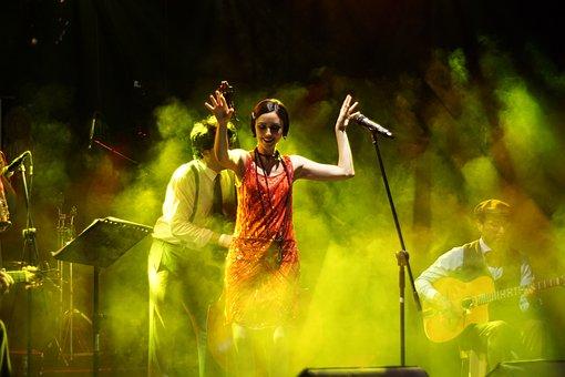Concert, Singer, Art, Music, Scene, Band, Performance