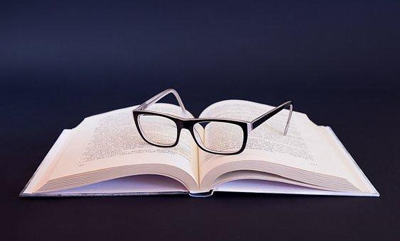 Glasses, Book, Literature, Educate, Homework, Organic