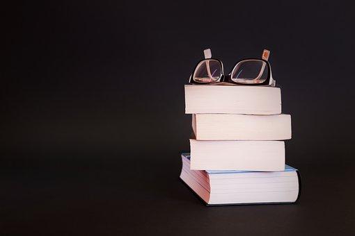 Glasses, Books, Literature, Educate, Homework, Organic