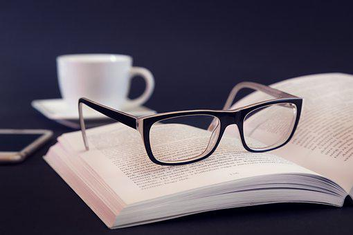Glasses, Book, Literature, Phone, Cup, Drink, Educate