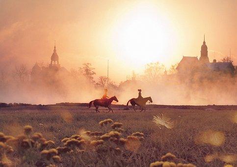 Horses, Horseback Riding, Galloping, Galloping Horses