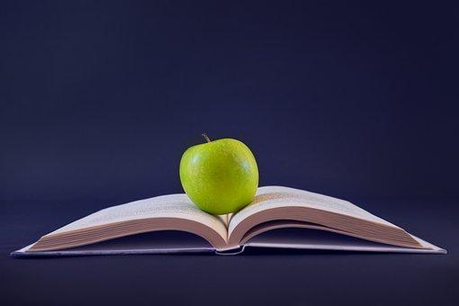 Apple, Fruit, Book, Literature, Educate, Homework