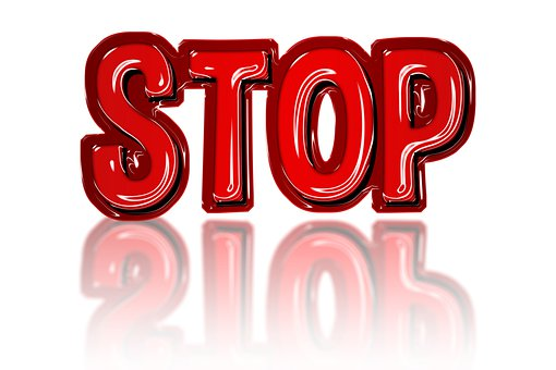 Stop, Sign, Icon, Red, Warning, Traffic, Road