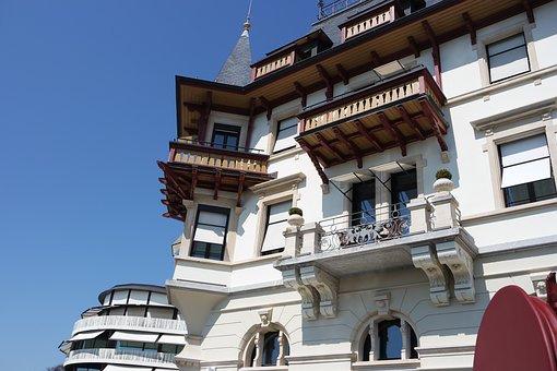 Zurich, Dolder, Hotel, Facades, Equipment, Spring