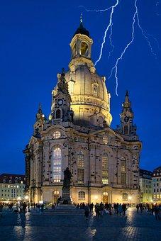 Church, Building, Steeple, Monument, Frauenkirche