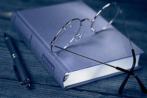 Book, Glasses, Pen, Wisdom, Training, Education
