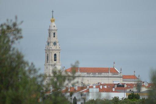 Building, Church, Sanctuary, Tower, Cross, Portugal