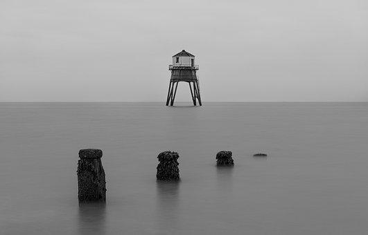 Lighthouse, Watchtower, Sea, Tower, Horizon, Ocean