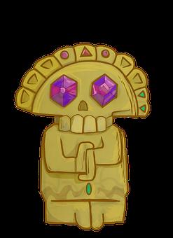 Cursed Totem, Totem, Idol, Golden Idol, Gold, Solid