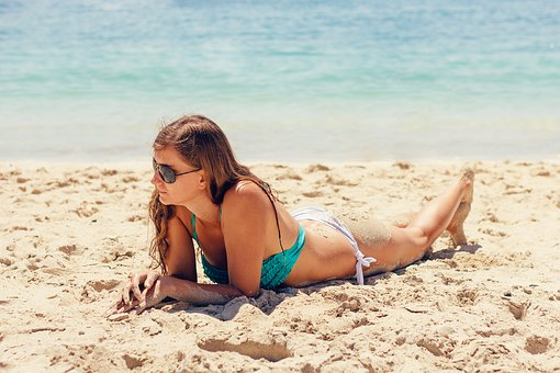 Bikini, Exposure To The Sun, Beach, Summer, Woman