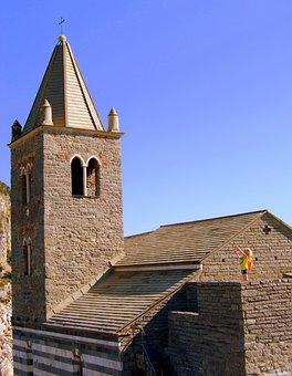 Church, Campanile, San Pietro, Porto Venere, Liguria