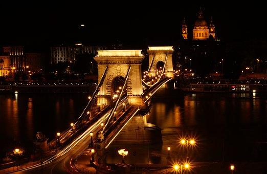 Budapest, Chain Bridge, Danube, Hungary, River, City