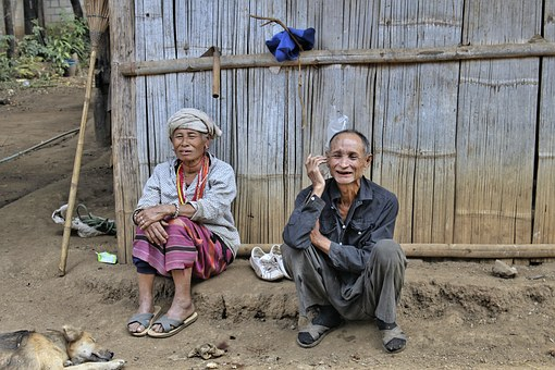 Couple, North Thailand, Mountain Folk, Hill Tribes