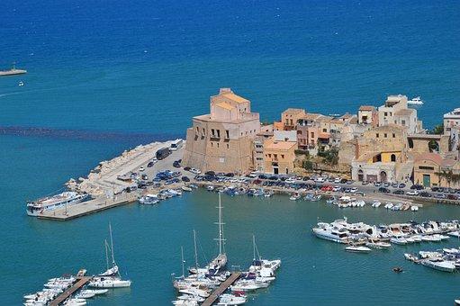 Sicily, Sea medterranean, Drills, Landscape, City