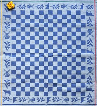Handkerchief, Background, Dutch, Netherlands, Clogs
