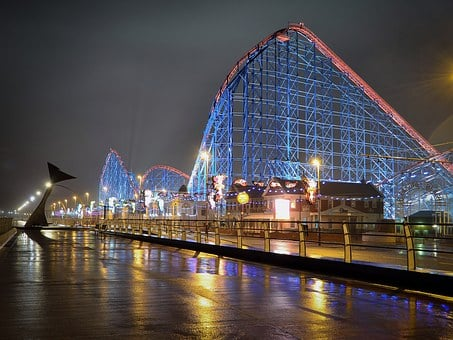Roller Coaster, Blackpool, England, Fairground, Ride