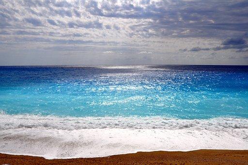 Sea, Beach, Lefkada Island, Greece, Farbenspiel