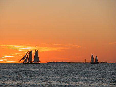 Key West, Florida, Sunset, Travel, Vacation, Ocean