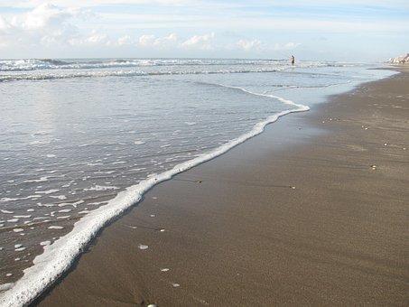 Sea, Sand, Foam, Wave, Beach, Edge Of The Sea, Sea Foam