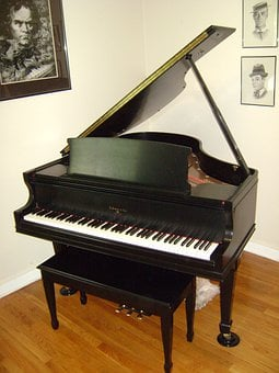 Piano, Grand Piano, Black, Instrument, Music, Musical
