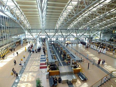 Abflug Hall, Airport, Hamburg