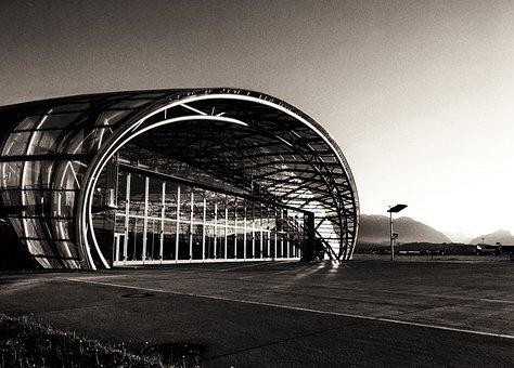 Hangar7, Salzburg, Hangar, Airport, Sun