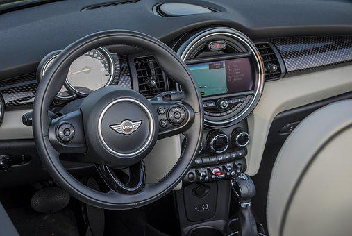 Mini, Convertible, Minicooper, Auto, Pariking, Inside