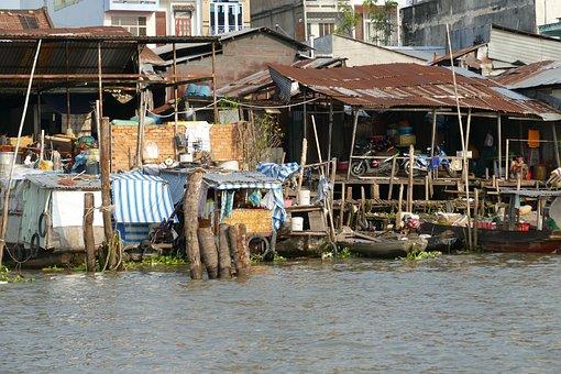 Vietnam, Mekong River, River, Live, Mekong Delta
