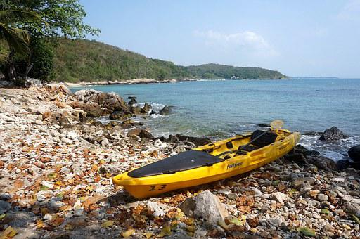 Kayak, Boat, Water Tourism, Beach, Sea, Nature, Journey