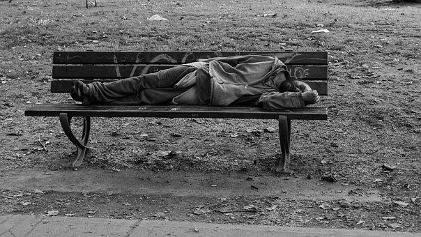Drunk, Man, Street, Park, Poverty, Old Man
