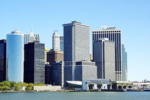 Usa, New York, Low Manhattan, Pier, Staten Island