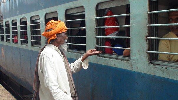Beggers, Indian Railway, India, Poor, Man, Poverty