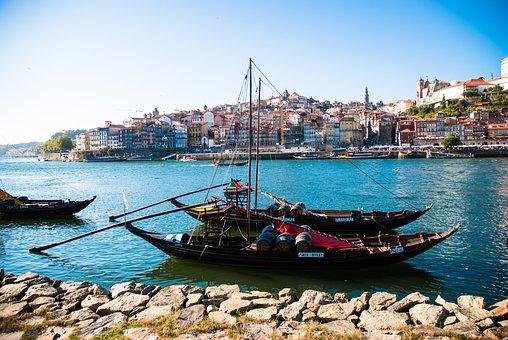 River Douro, Porto, Rabelo Boat, Portugal, Port Wine