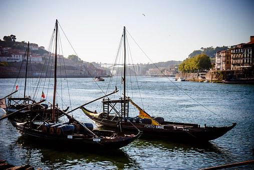 River Douro, Porto, Rabelo Boat, Portugal, Port Wine