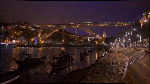 Portugal, Porto, Bridge, Architecture, Douro, River