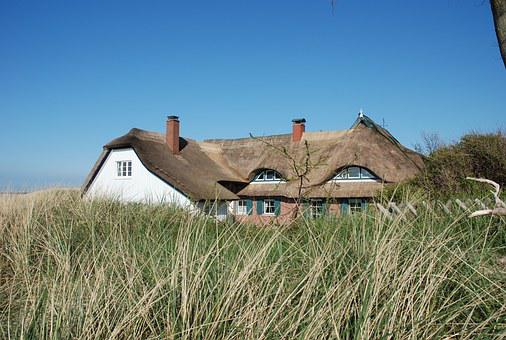 Ahrenshoop, Darss, Reed, Thatched Roof, Fischland