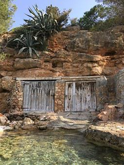 Beach, Ibiza, Holiday, Water, Rocks, Rock, Sea