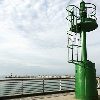 Porto, Sea, Rimini, Italy, Lighthouse, Boathouse
