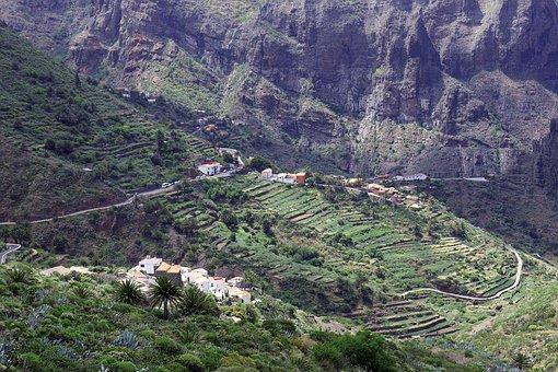 Tenerife, Masca, Village, Mountains, Spain, Rocks