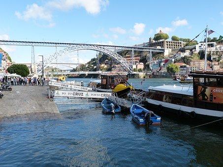 Bridge, Metal, Arch, Train, Cross, Porto, Travel