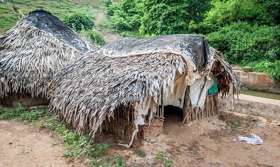 Tribal, Hut, India, Village, Ethnic, Thatched