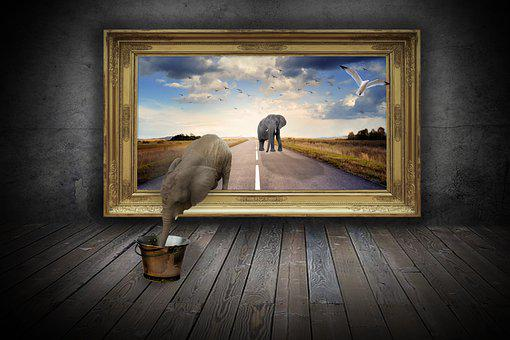 Elephant, Art, Animal, Decorative, Nature, Mammal