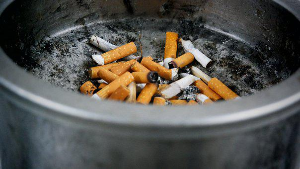 Cigarette Butts, Cigarette, Ashtray, Ash, Waste