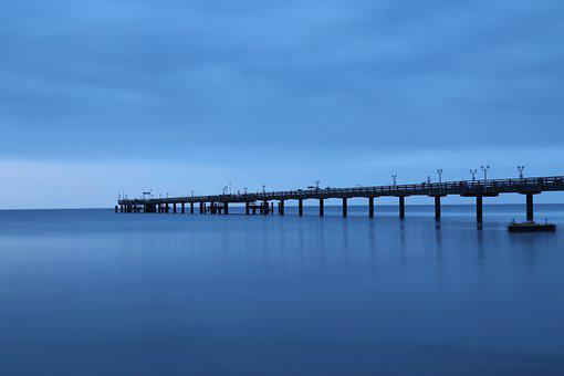 Baltic Sea, Sea Bridge, Binz, Seaside Resort