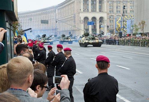 Parade, Military, Tank, Street, Ukrainian, Capital