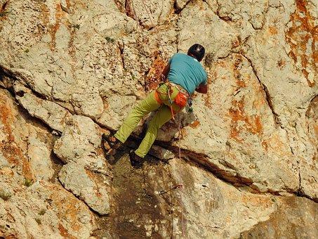 Climber, Climbing, Sport, Adventure, Challenge, Rope