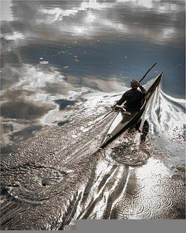 Man, Canoeing, Lake, Kayaking, Canoe, Water, Kayak