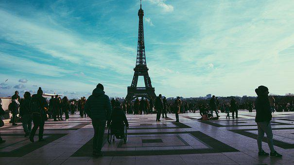 Eiffel Tower, Paris, People, Tower, Tourists, Monument