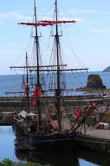 Harbor, Tall Ship, Coast, Bay, Sea, Ocean, Ship, Port