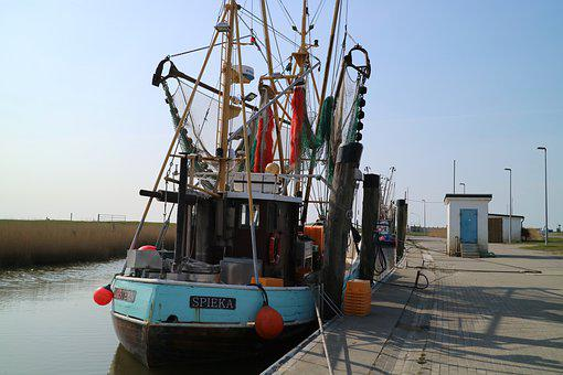 Boat, Port, Coast, Sea, Bay, Ocean, Fishing Boat